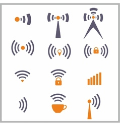 Wireless network symbol vector image vector image