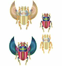 scarab gold vector image