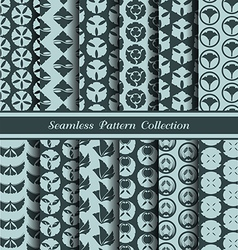 12 different japan traditional seamless patterns vector