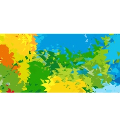 Summer background Polygonal colorful brazilian vector image