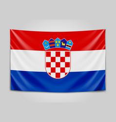 hanging flag of croatia republic of croatia vector image