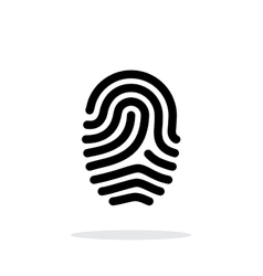 Fingerprint loop type icon on white background vector
