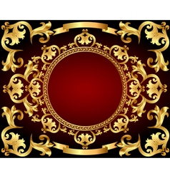 Background frame with gold with vintage vector