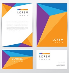Corporate identity document template vector