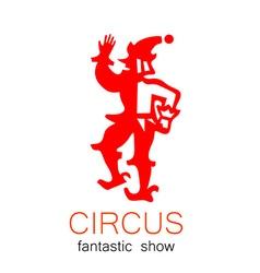 Circus show retro logo vector