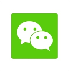 Chat icon button isolate vector