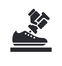 shoemaker icon vector image
