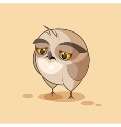 Owl is sad vector