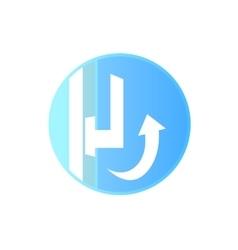 The window handle vector image