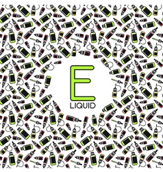 Endless e liquid background vector