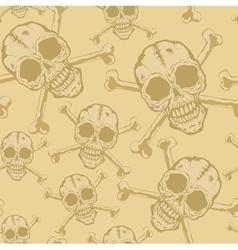Pattern skull 2 vector