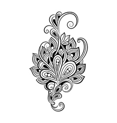 Decorative art flowers vector