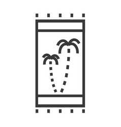 a beach towel vector image vector image