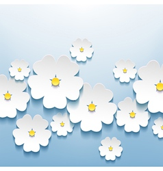 Abstract floral background with 3d sakura vector