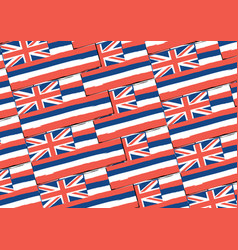 Abstract hawaiian flag or banner vector