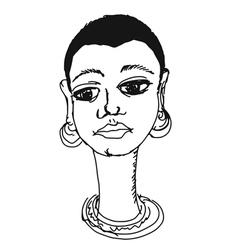African girl vector