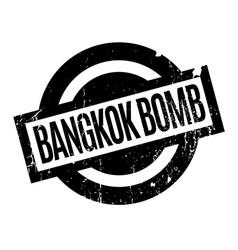 Bangkok bomb rubber stamp vector