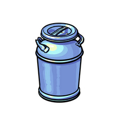 big closed industrial aluminum milk can vector image