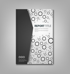 Brochures book or flyer with black white vector