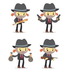 cartoon gangsters vector image vector image