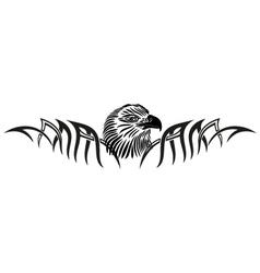 Eagle tribal tattoo vector