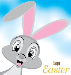 Easter bunny design Happy Easter Day on a vector image
