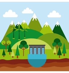Ecology and green idea design vector
