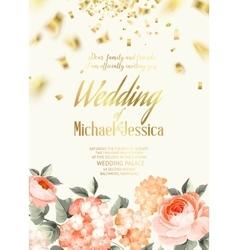 Elegant floral card vector