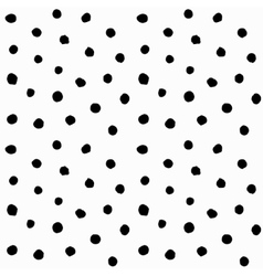 Hand drawn small polka dots vector