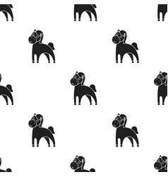Horse black icon for web and mobile vector