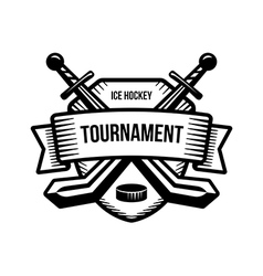 Ice hockey sport tournament logo vector
