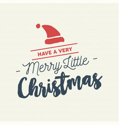 Merry christmas calligraphy santa vector