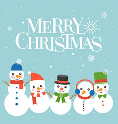merry christmas typographic design poster vector image