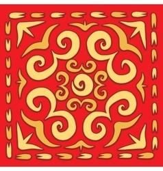 Orient square arabesque vector image