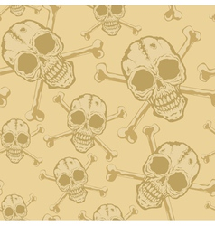 Pattern skull 2 vector image