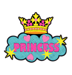 princess fashion embroidery patch vector image vector image