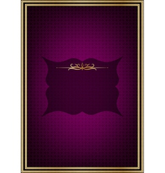 Purple greeting card vector