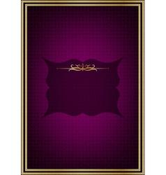 Purple greeting card vector