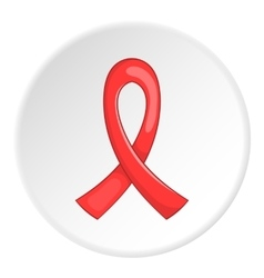 Red ribbon logo flat style vector