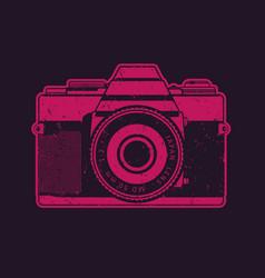 Retro camera in pop-art style vector