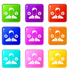 Selection icons 9 set vector