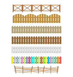 set of different fences vector image vector image