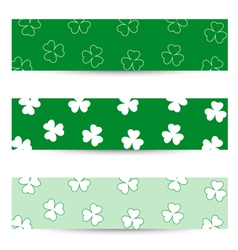 Shamrock seamless banners vector image vector image