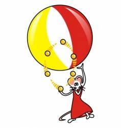 souris ballon vector image vector image