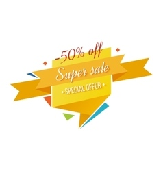 Super sale banner on white background vector