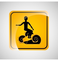 Surfing person sign sport extreme design vector