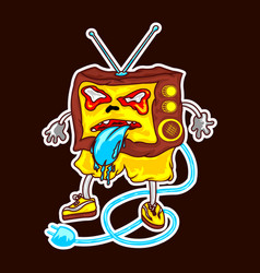 television monster vector image