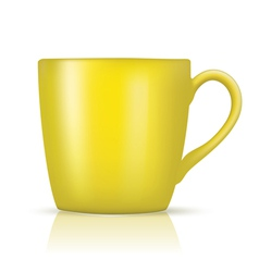 yellow big cup vector image vector image