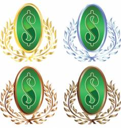 money wreath vector image