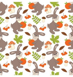 Rabbit seamless pattern vector